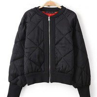 Long Cuff Sleeve Quilted and Light Padded Jacket