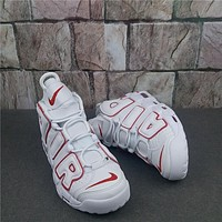 Nike Air More Uptempo White/red Sneaker | Best Deal Online