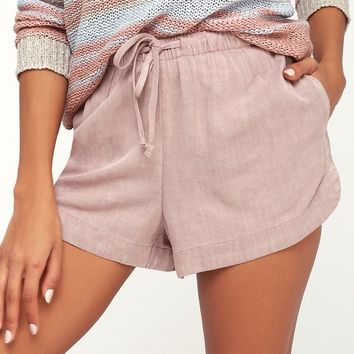 New Yume Taupe Drawstring Shorts