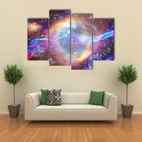 Galaxy And Nebula In Space Multi Panel Canvas Wall Art