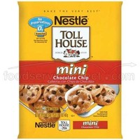 Nestle Toll House Chocolate Chip Mini Cookie Dough, 0.5 Ounce -- 480 per case.