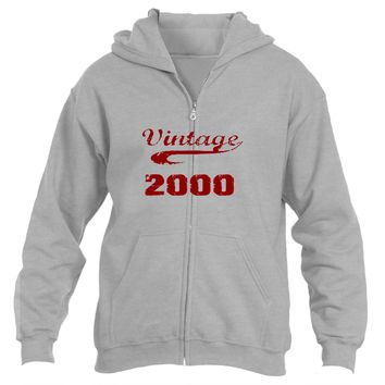 Vintage 2000| Heavy Blend™ Fleece Zipper Hoodie|Underground Statements
