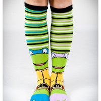 TMNT Mix and Match Toe Knee High Socks