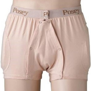 Hipsters® Hip Protection Brief, Incontinent, Elastic Waistband, Unisex, Beige