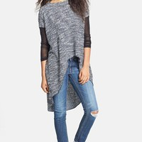 ANM Sheer Inset High/Low Sweater (Juniors) (Online Only) | Nordstrom