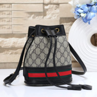 GUCCI Fashion Leather Tote Crossbody Shoulder Bag Satchel