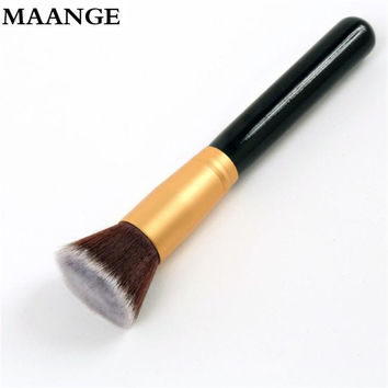 1 pcs Professional Makeup Brush Flat Top Brush Foundation Powder Pro Cosmetic Make up brushes Tool Wooden Kabuki Make-up Brush