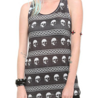 Skull Chain Girls Tank Top