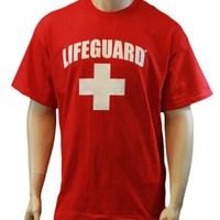 Lifeguard T-Shirt Official Licensed Life Guard Tee Red