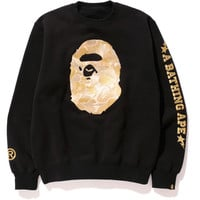BAPE® BLACK APE HEAD EMBROIDERY CREWNECK