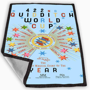 harry potter quidditch world cup poster Blanket for Kids Blanket, Fleece Blanket Cute and Awesome Blanket for your bedding, Blanket fleece **