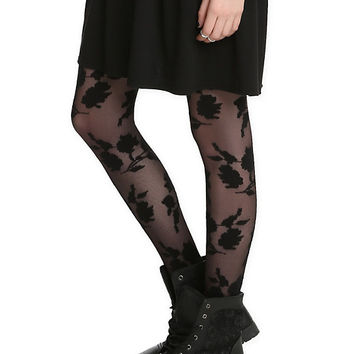 Black Roses Tights