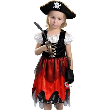 Awesome Fierce Pirate Lass Girls Halloween Costume Child Swashbucklin Buccaneer Outfit