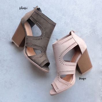 talk around town perforated booties - more colors