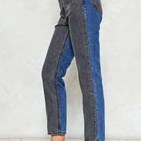 Two's Company Two-Tone Jeans