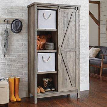 Better Homes and Gardens Modern Farmhouse Storage Cabinet, Rustic Gray Finish - Walmart.com
