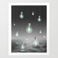 Shine From Within (Shine Bright Series) Art Print by Soaring Anchor Designs ⚓