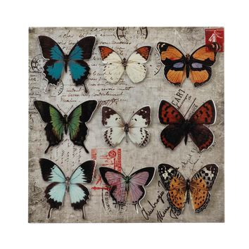 Collage Butterfly Tin Wall Art