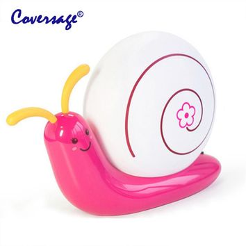 Coversage Led Night Light Snail Table Lamp Children Kids Baby Sleeping Bedroom USB Battery Novel Reading Animal Lightling Lights