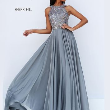 Sherri Hill 50615 Beaded Bodice Formal Prom Dress