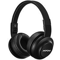 Mpow H2 Bluetooth Headphones w/ 4 Equalizer Modes, Both Wired & Wireless Headphones On Ear, HiFi EQ Headphones Bluetooth Headset with Mic for Cellphone/PC, 13-Hour Wireless Use(BLACK)