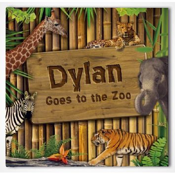 Goes To The Zoo Personalized Storybook - Soft Cover