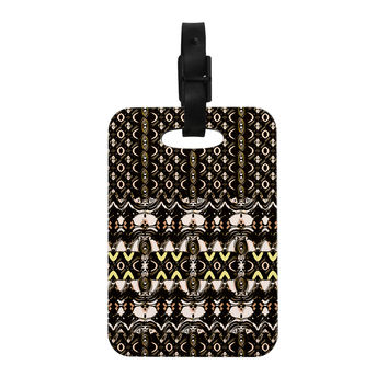 "Dawid Roc ""The Palace Walls"" Brown Black Decorative Luggage Tag"