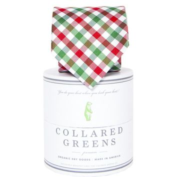 Holiday Quad Tie in Red/Green by Collared Greens