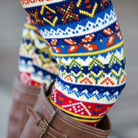 Tribal Multi-Color Leggings