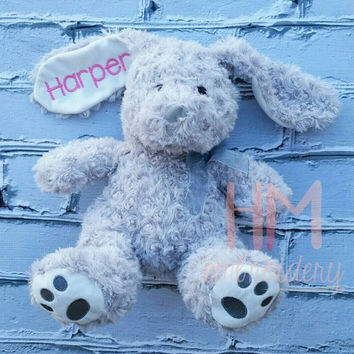 Personalized Easter Bunny - Grey