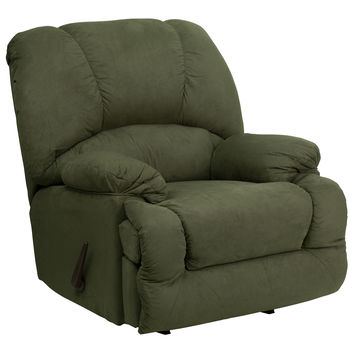 Contemporary Glacier Olive Microfiber Chaise Rocker Recliner AM-C9700-7903-GG