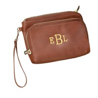 Sloane Personalized Vegan Leather Wristlet