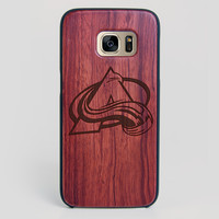 Colorado Avalanche Galaxy S7 Edge Case - All Wood Everything