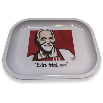 Designed Metal Rolling Tray (Mini) - Extra Fried Man