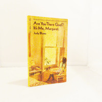 Vintage Book Tween Book Are You There God? It's Me Margaret by Judy Blume Coming of Age