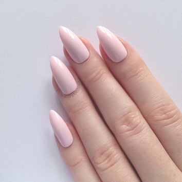 Pastel Pink Stiletto nails, Nail designs, Nail art, Nails, Stiletto nails, Acrylic nails, Pointy nails, Fake nails