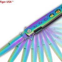 RAINBOW Milano Handle & Blade SPRING ASSIST OPENING POCKET KNIFE