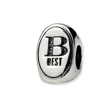 Sterling Silver Best Friends Forever, 3-Sided Bead Charm