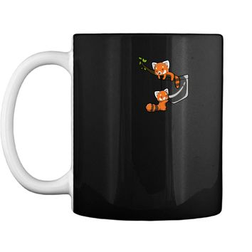 T-Shirt - Pocket Series Cute Red Panda Bear Playing Mug