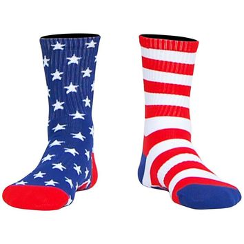 Stars & Stripes Athletic Half Crew Socks