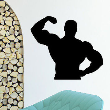 WALL DECAL VINYL STICKER SPORT GYM FITNESS BODY-BUILDING DECOR SB833