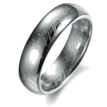 Gift The Lord of rings Tungsten steel couple ring for Men-Size 8