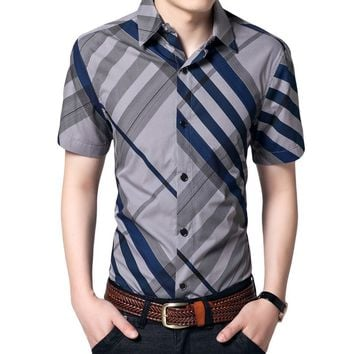 Hot Summer Striped Collar Shirts