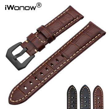 Italy Genuine Calf Leather Watchband 20/22/24/26mm for Tissot Hamilton Mido Longines Luminox Watch Band Steel Buckle Wrist Strap