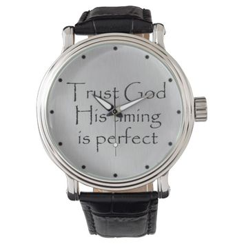 God's Timing Quote Wristwatches