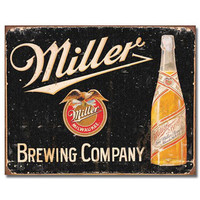 Miller Brewing Company Beer Tin Sign