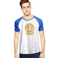 Women Versace For Short Raglan Sleeves T-shirt, Red Tees, Black Tees, Blue Tees **