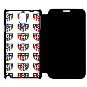 USA Soccer Ball World Cup Samsung Galaxy Note 4 Flip Case Cover