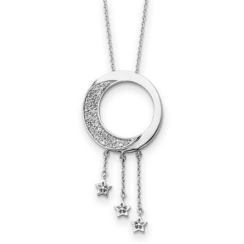 Sterling Silver & CZ 'I Promise You The Moon And Stars' Necklace