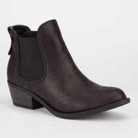 Soda Chelsea Womens Booties Black  In Sizes